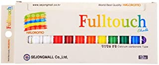[羽衣]HAGOROMO フルタッチチョーク10色セット(白、赤、黄、青、緑、茶、紫、オレンジ、朱赤、黄緑)12本入 (Fulltouch 10-color Mix Chalk 12pcs) [並行輸入品]