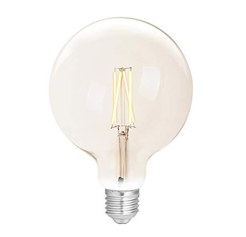 WiZ Smart LED Leuchtmittel White Clear G125 E27 (Dimmbar, 6,5W-60W Leistung, 2000K-5500, lm810, App & Voice Control Alexa, Siri, Google & IFTTT), Weiß Filament Klar, Globe 125-E27