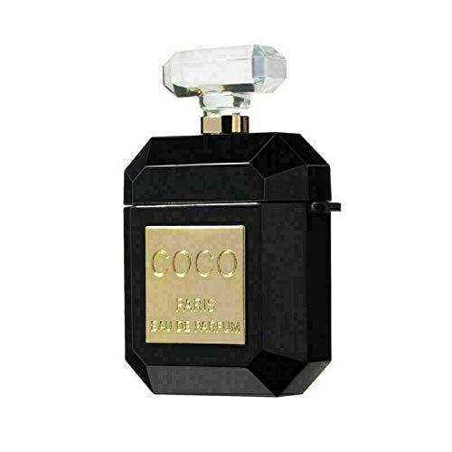 ® Airpods Funda de Silicona con Aspecto de Perfume Coco para Apple Airpod 1 & 2 Case, Botella de Perfume Dulce