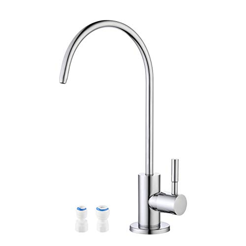 KES Water Filter Tap for Kitchen Sink Reverse Osmosis Faucet Non-Air-Gap Drinking Water Tap SUS304 Stainless Steel Polished Chrome, Z504CLF-CH