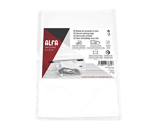 Alfa 0MP2514300 Bolsas para vacío 15 24 cm, Plastic