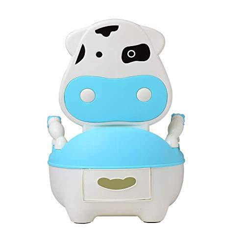 Glenmore Lerntöpfchen Baby Töpfchen für Kinder Kindertoilette mit Hoher Toilettentrainer Gepolsterte Sitzfläche Rückenlehne und Haltgriff Blau