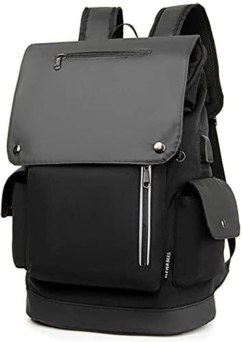 WXFCAS Mochila de viaje, bolso de mochila de negocios de portátil con USB Puerto de carga La mochila de la escuela resistente al agua del puerto encaja con hasta 15.6 pulgadas de negocios universitari