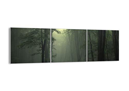 Quadro su Vetro - Tre 3 Tele - Larghezza: 120cm, Altezza: 40cm - Numero dell'immagine 3543 - Pronto da Appendere - Elementi Multipli - Arte Digitale - Moderno - Quadro in Vetro - GCA120x40-3543