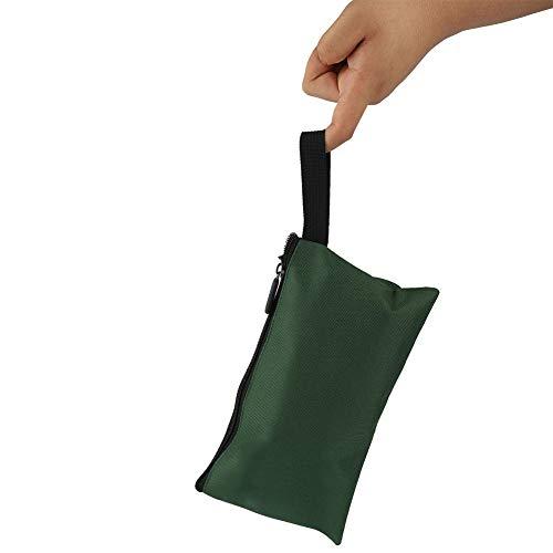 Bolsa de herramientas para bicicleta, herramienta ligera de reparación de bicicletas, tela de poliéster de poliéster, hecha de ahorrar espacio de almacenamiento (verde)