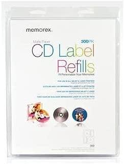 NEW CD/DVD White Matte Labels- 300 (Blank Media)