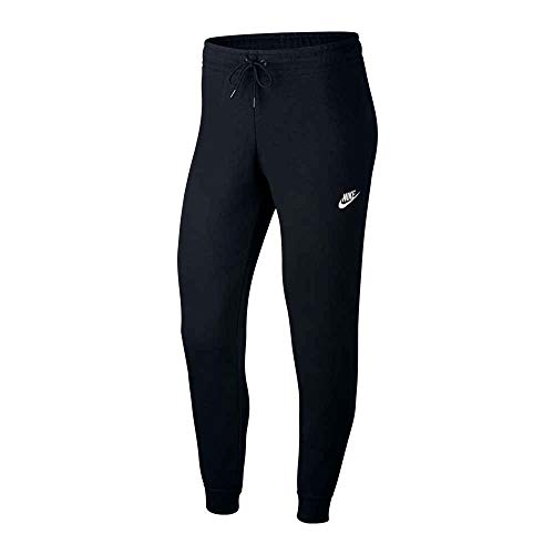 NIKE W NSW Essntl Pant Tight FLC Pantalones de Vellón, Mujer, Negro (Black/White), S