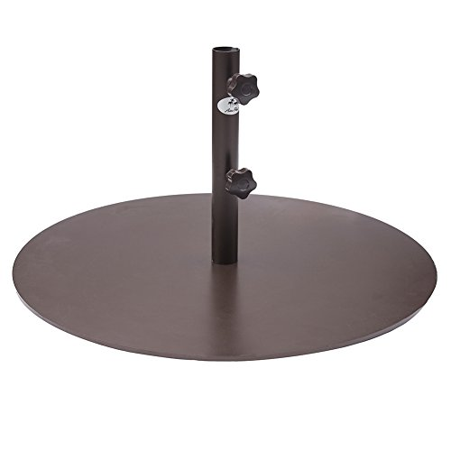 Abba Patio Round Steel 28 inch Diameter Market Patio Umbrella Base, 55 lbs, Bronze