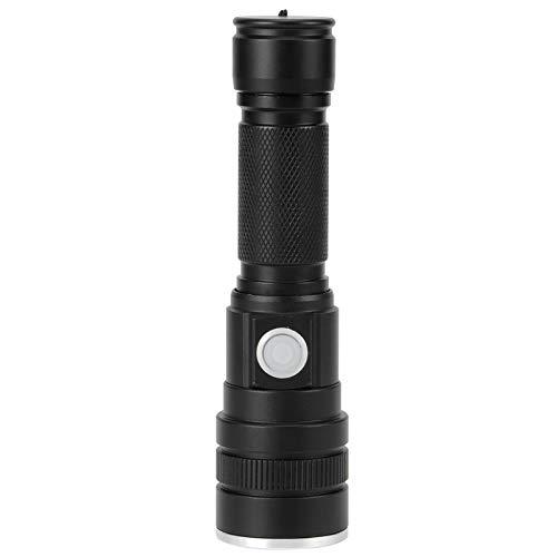 Linterna, carga USB Linterna Cuerpo de aleación de aluminio ideal para usar en casa, pasear perros o acampar