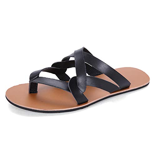 Ballyzess Chanclas Y Sandalias De Piscina para Hombre Sandalias Zapatillas De Verano Zapatos De Hombre con Clip De Zapatos De Playa-37