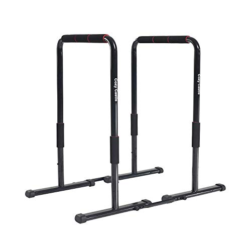 Soft Shell Cozy Castle Dip Station, Multifunctional Dip Stand Station, Dip Bars Fitness for Home, Dip Bar Station with Safety Connector for Tricep Dips, Home Gym Equipment