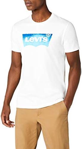 Levi's Housemark Graphic tee Camiseta para Hombre Blanco, HM SSNL Film 3