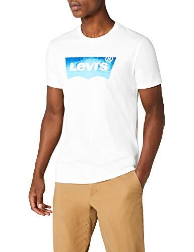 Levi's Levi's Herren Housemark Graphic T-Shirt, Weiß (Hm Ssnl Film 3 White 0118), Medium