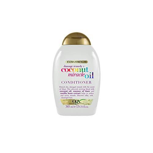 OGX Acondicionador Reparador sin Sulfatos para Cabello Dañado, Coconut Miracle Oil, 385 ml
