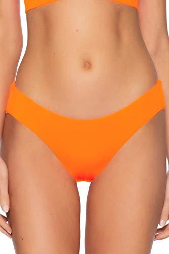 Becca by Rebecca Virtue Women's Hipster Bikini Bottom Atomic Tangerine XS
