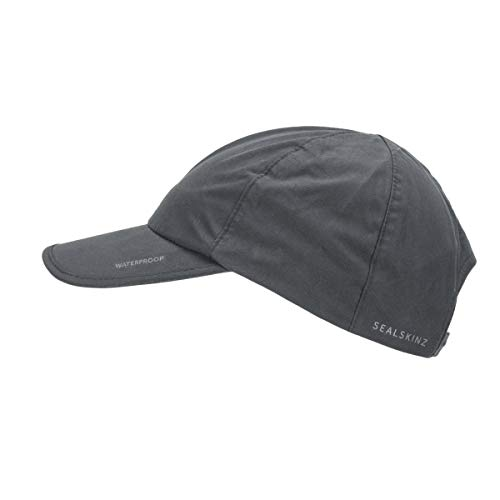 SealSkinz Waterproof All Weather Cap, Black/Grey, One Size