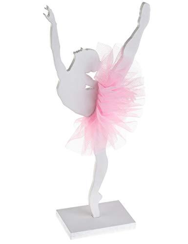 Generique - Ballerina in Legno con tutù Rosa