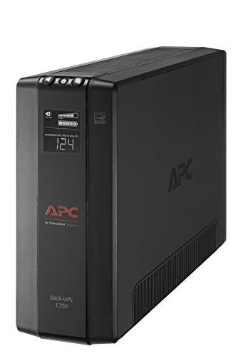 APC UPS, 1350VA UPS Battery Backup & Surge Protector, BX1350M Backup Battery, AVR, Dataline Protection and LCD Display, Back-UPS Pro Uninterruptible Power Supply