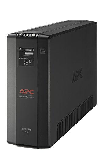 APC UPS, 1350VA UPS Battery Backup & Surge Protector, BX1350M Backup Battery, AVR, Dataline Protection and LCD Display, Back-UPS Pro Uninterruptible Power Supply