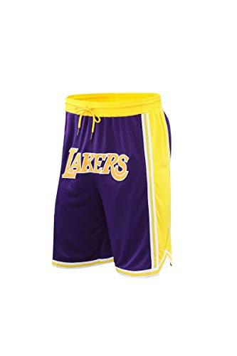 Basketball Shorts for Men Shorts Mens runnnig Shorts Gym Shorts with Pockets (Purple, XXX-Large)