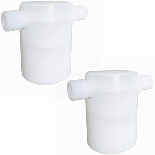 1/2' Water Float Valve, Water Level Control Water Tank Traditional Float Valve Upgrade 2 PCS (Side Inlet)
