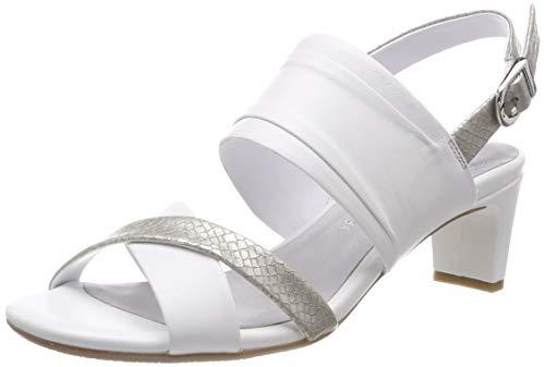 Gerry Weber Shoes Damen Florenz 01 Slingback Sandalen, Weiß (Weiß-Kombi 001), 39 EU