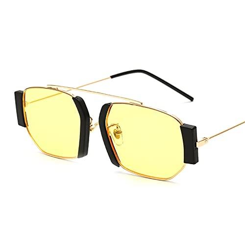 NIUBKLAS Gafas de sol Punk de gran tamaño para hombre, gafas de sol de Color degradado geométrico, gafas de sol para hombre, gafas UV400 3