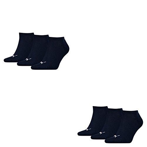 Puma 6 Paar Sneaker Invisible Socken Gr. 35-49 Unisex für Damen Herren Füßlinge, Farbe:321 - navy, Socken und Strümpfe:35-38