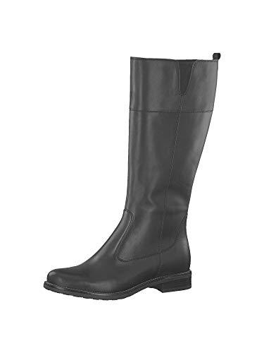 Tamaris Botas para mujer 1-1-25582-23 XL Shaft, color Negro, talla 41 EU