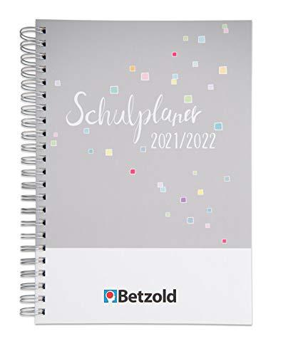Betzold 758672 - Design-Schulplaner 2021/2022, Ringbuch, DIN A4, Lehrer-kalender