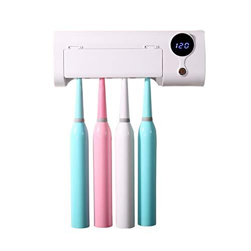 Xiayanmei Cepillo de Dientes para desinfección UV, portacepillos de baño de Pared, función de esterilización, función de Temporizador, Adecuado para Cepillo de Dientes doméstico para bebés
