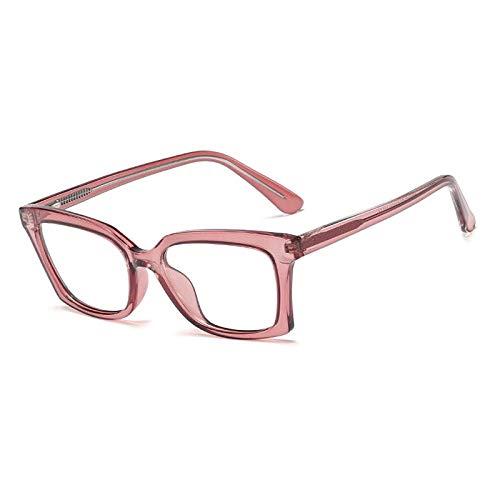 Montature per Occhiali da Vista da Donna con Occhio di Gatto Ottico Unisex Quadrato Occhiali da Donna tonalità Nere Montature per Occhiali Stili di Moda C3PinkClear