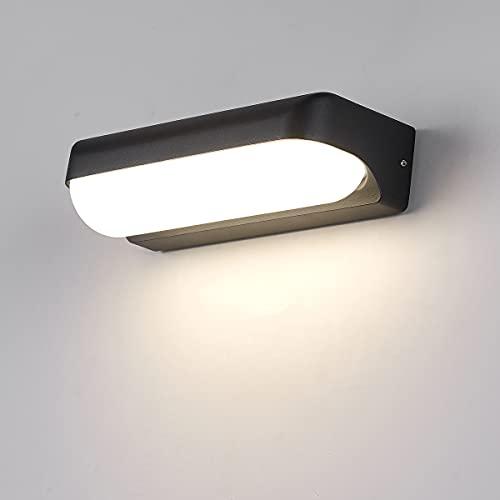 HAOFU 12W LED Apliques de Pared,Lamparas de Paredimpermeable IP65, 4000K luz blanco natural, Universal para Decoración de Casa Jardín de Lluminación de Exterior y Lluminación de Interior ✅