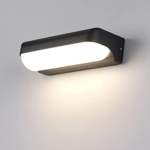 HAOFU 12W LED Apliques de Pared,Lamparas de Paredimpermeable IP65, 4000K luz blanco natural, Universal para Decoración de...