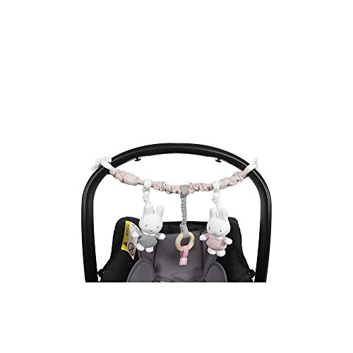 Tiamo NIJN617 Miffy Hase Cord Kinderwagenkette rosa grau