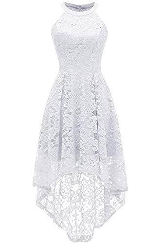 MisShow Damen Kleid Spitze vorne kurz hinten lang Brautjungfernkleider Ballkleider Schulterfreies...
