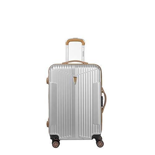 Murano Trolley Suitcase - Medium - Hard ABS Luggage - Silver - IOA Range