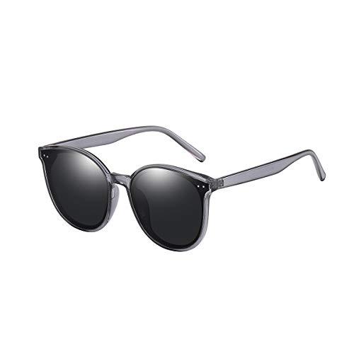 GUANGE Gafas de sol polarizadas para mujer, protección UV400, gafas de sol para mujer, de gran tamaño, de moda, para conducir, ciclismo, golf, pesca, correr, vela, regalos para damas, gris