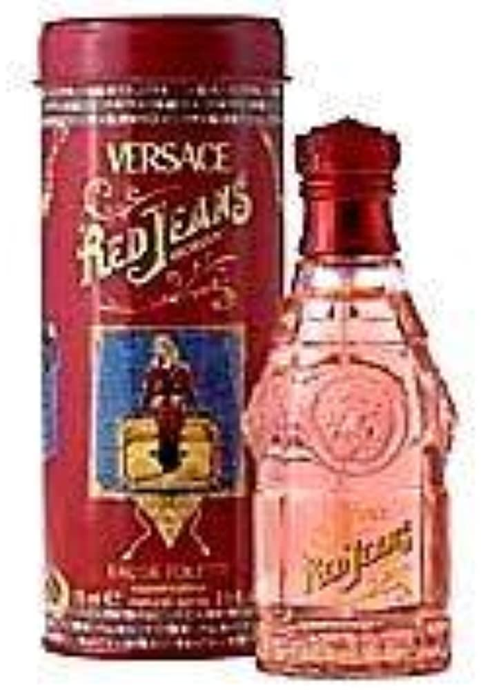 Gianni versace red jeans eau de toilette, donna, 75 ml 124832