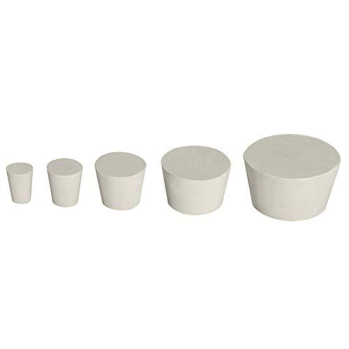 Gummistopfen Weiß in 16 Größen von 13/17mm bis 70/80mm auswählbar (Ø Oben 29mm x Ø Unten 23mm x Höhe 29mm)