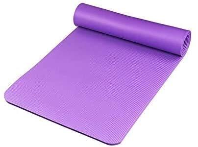 GDFEH Esterilla Yoga Pilates Mat Ejercicio NBR Fitness Fitness Mat Gym Fitness Mats Llevando la estera de entrenamiento de la correa para el yoga, Pilates y Gimnasia para mujeres y hombres Sin resbaló