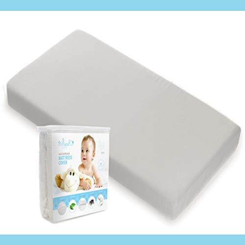 Milliard Dual Sided Crib Mattress with Cotton Cover Plus Waterproof Crib Mattress Pad Bundle