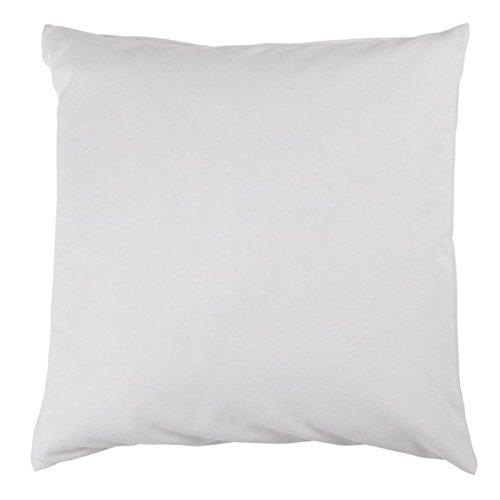 Hans-Textil-Shop Kissenbezug 40x40 cm, Uni Weiß, Baumwolle Canvas