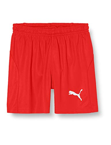 PUMA Kinder Liga Shorts Core w Brief Jr Hose, rot (Puma Red-Puma White), 116