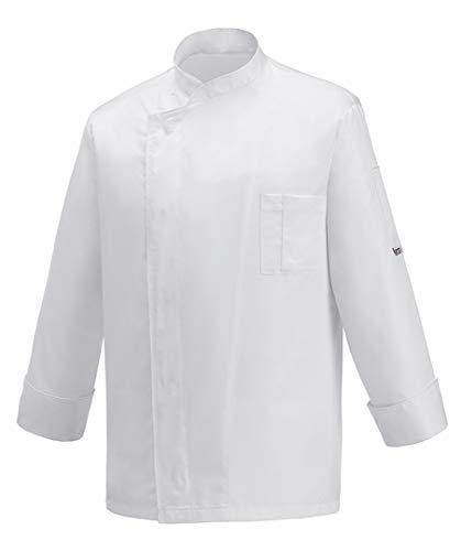 EGOCHEF Chaquetas Chef OTTAVIO-Microfibra 100% (White, S)