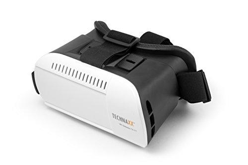 Technaxx 4639 VR Glasses TX-77 Virtual Reality Brille für 3D Filme und Spiele, komapatibel mit 3,5-6 Zoll Smartphone schwarz/weiß