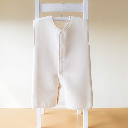 はぐまむhugmamu®日本製綿毛布スリーパー秋冬着る毛布(無添加キナリ,ベビー2way39×55)6840-16