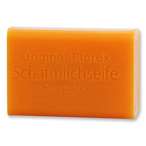 Florex Schafmilchseife - Propolis - süß duftende Seife mit Extrakt vom Honig spendet intensive Feuchtigkeit 100 g