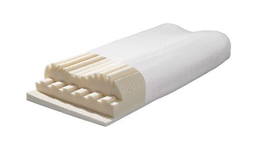 Talalay-Latex Nackenstützkissen V28 Air® natur - 28 verschieden Einstellungen - reiner Naturlatex - für Allergiker geeignet - Ideal für Schwitzer - sehr atmungsaktiv