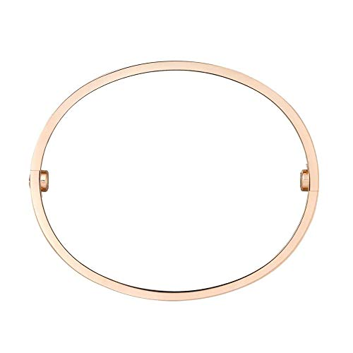 MNONE Love Bracelet (JUST AS You Want.Minus Sign - in Circles) with Screwdriver(Gold,6.3inch)-FBA Stock only